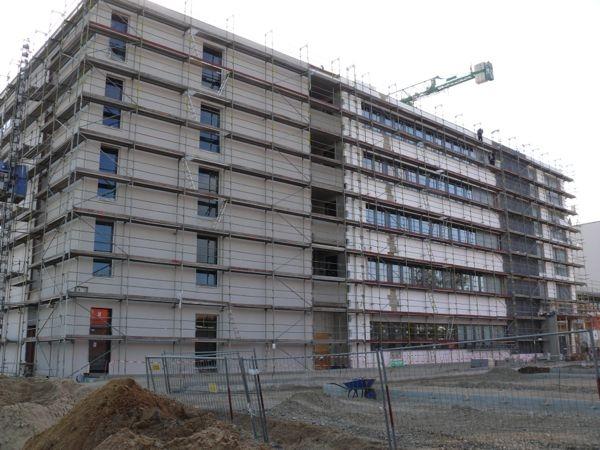 Fassadengerüst für Neubau - Bürogebäude 8.000 qm in Braunschweig