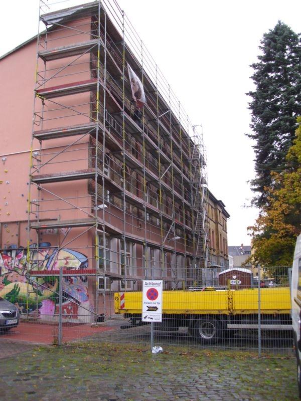 Fassadengerüst Braunschweig Jugendzentrum Gerüst