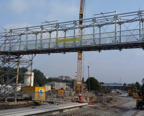 Brücke Fußgänger Baustelle