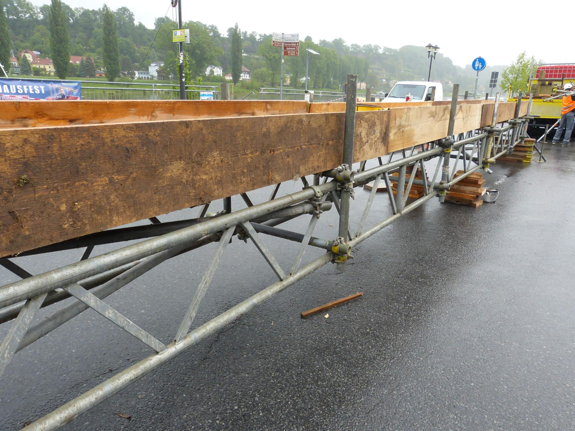 Kabelbrücke Aufbau