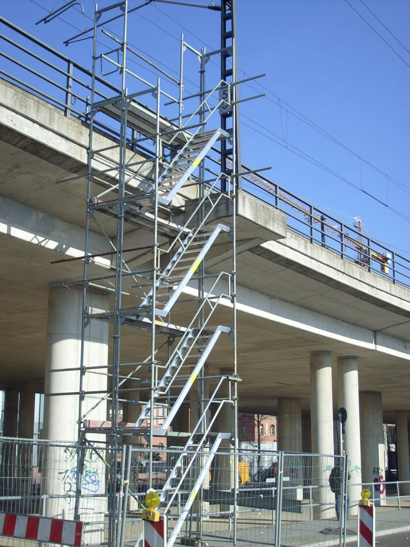 Treppenturm Gerüst