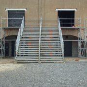 Gerüst Fluchttreppe für Backstage Ausgang