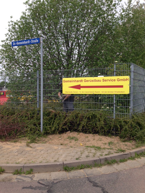 Schild für Gemeinhardt Gerüstbau