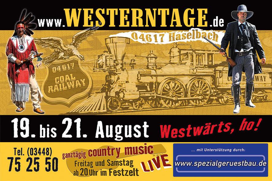 Westerntage 2016 Plakat Flyer