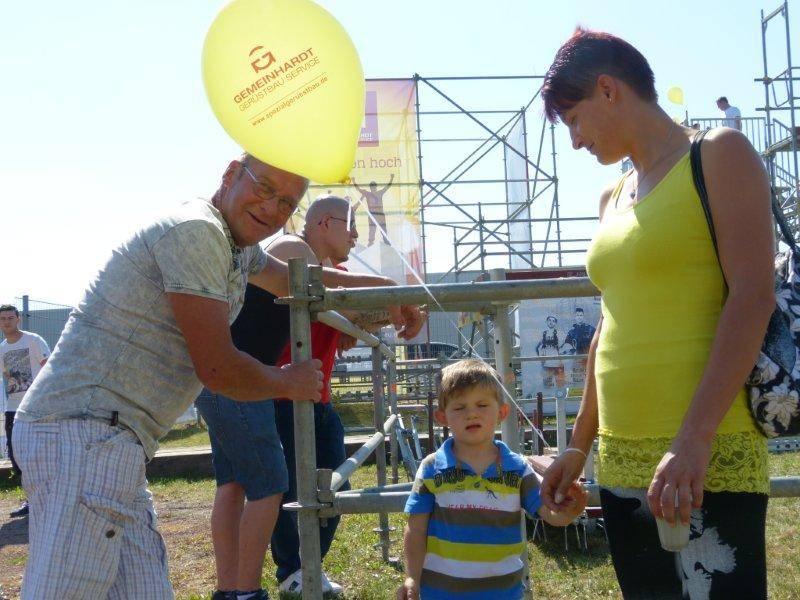 Gerüstbauer Besucher beim Gewerbefest