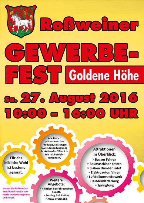 Plakat für Rossweiner Gewerbefest
