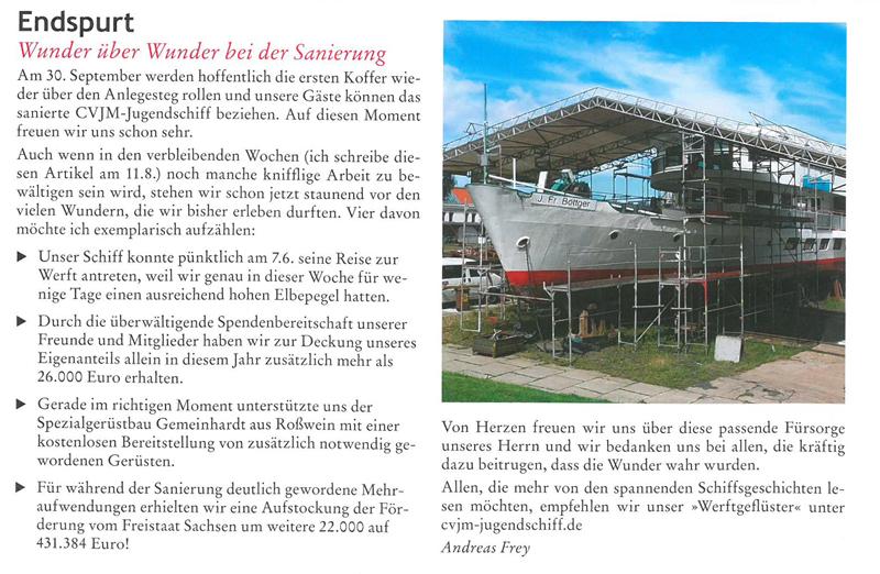 Unterstützung einer Schiffssanierung durch Gemeinhardt Gerüstbau