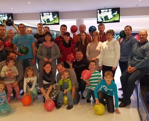 Weihnachtsfeier Bowlingbahn