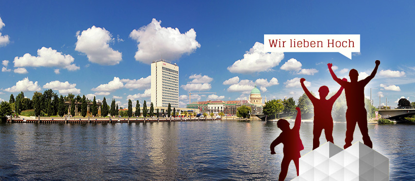 Gerüst vor Bremen Panorama