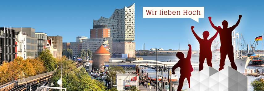Gerüst vor Hamburg Panorama