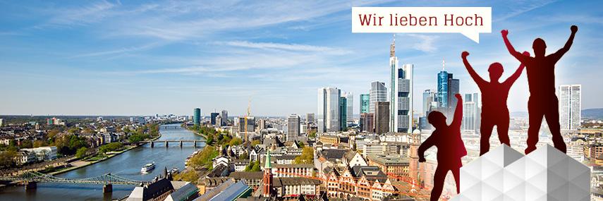 Gerüst vor Frankfurt Panorama