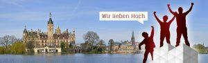 Gerüst vor Schwerin Panorama