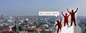 Gerüst vor Hannover Panorama