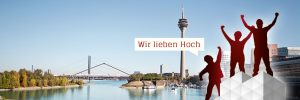 Gerüst vor Düsseldorf Panorama