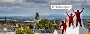 Gerüst vor Mainz Panorama