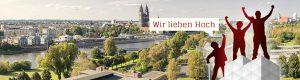 Gerüst vor Magdeburg Panorama