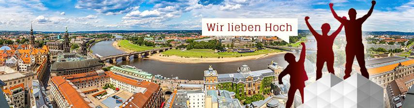 Gerüst vor Dresden Panorama