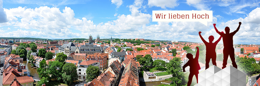 Gerüst vor Erfurt Panorama