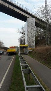 B103 Eisenbahnbrücke, Reinigungs- und Korrosionsschutzarbeiten