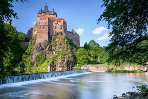 Talsperre und Schloss Kriebstein