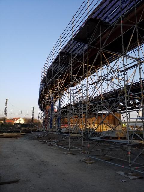 Schutzgerüst Lahmeyerbrücke 2